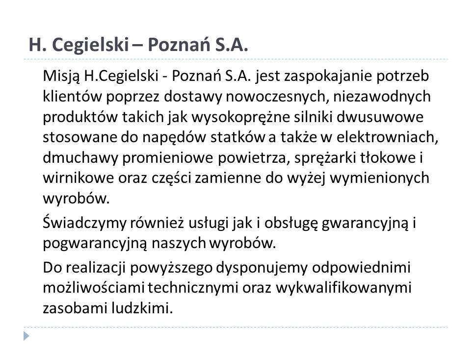 H. Cegielski – Poznań S.A.