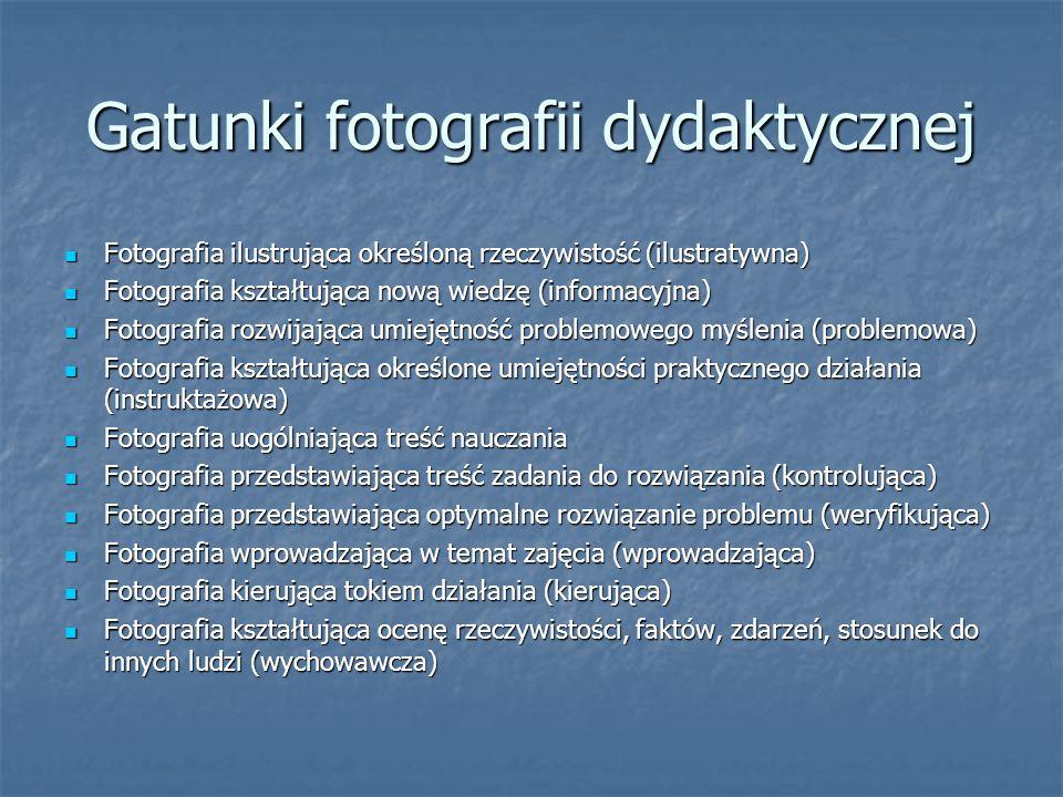 Gatunki fotografii dydaktycznej
