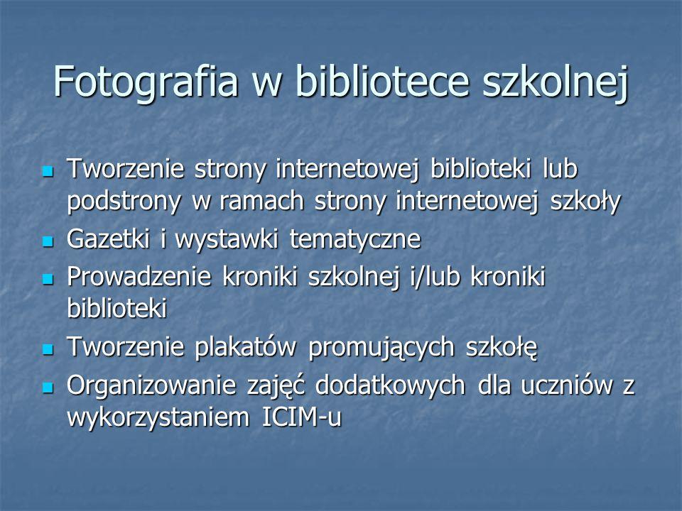 Fotografia w bibliotece szkolnej