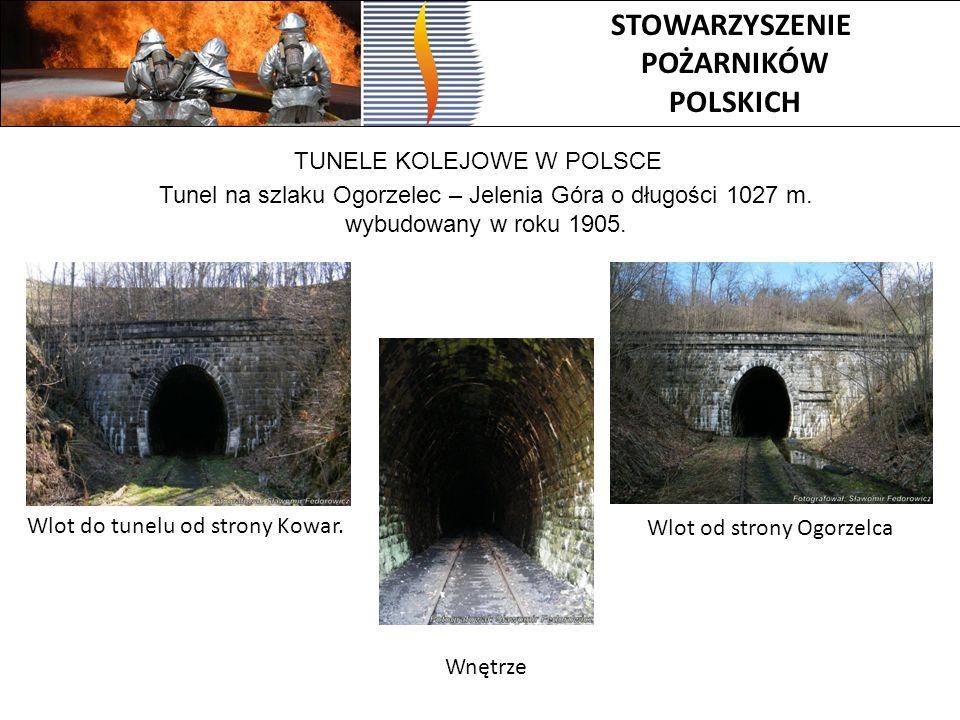 Tunel na szlaku Ogorzelec – Jelenia Góra o długości 1027 m.