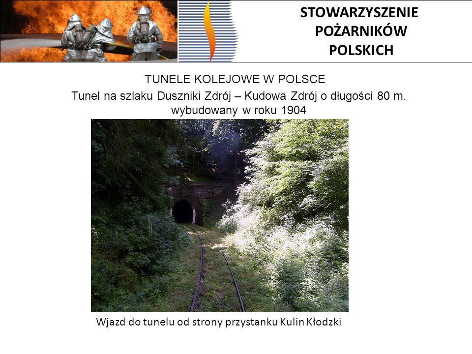 Tunel na szlaku Duszniki Zdrój – Kudowa Zdrój o długości 80 m.