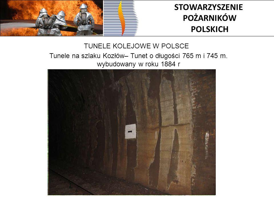 Tunele na szlaku Kozłów– Tunet o długości 765 m i 745 m.