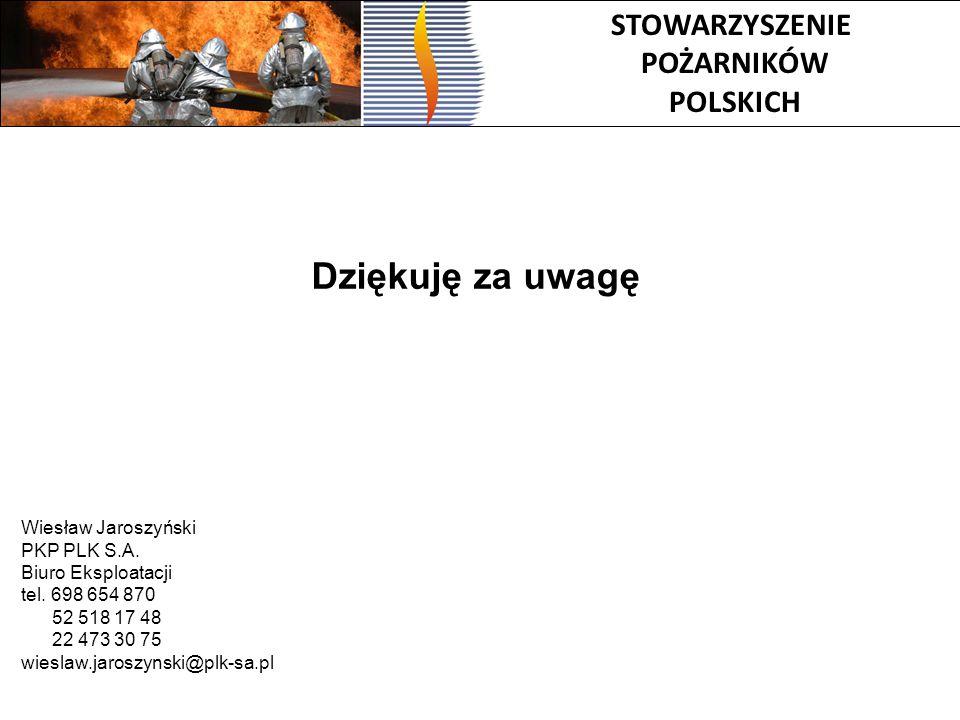 Dziękuję za uwagę STOWARZYSZENIE POŻARNIKÓW POLSKICH