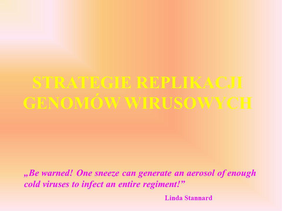 STRATEGIE REPLIKACJI GENOMÓW WIRUSOWYCH