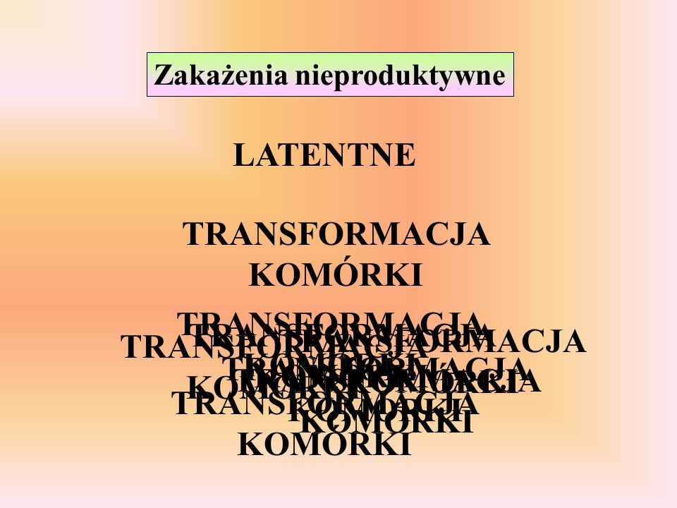 TRANSFORMACJA KOMÓRKI
