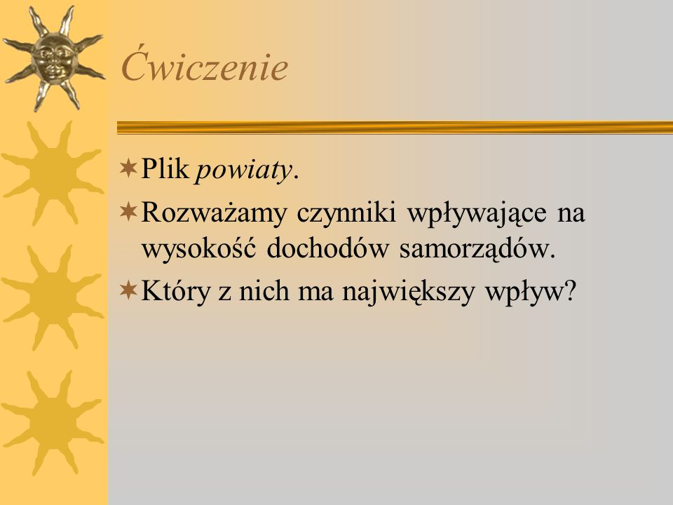 Ćwiczenie Plik powiaty.