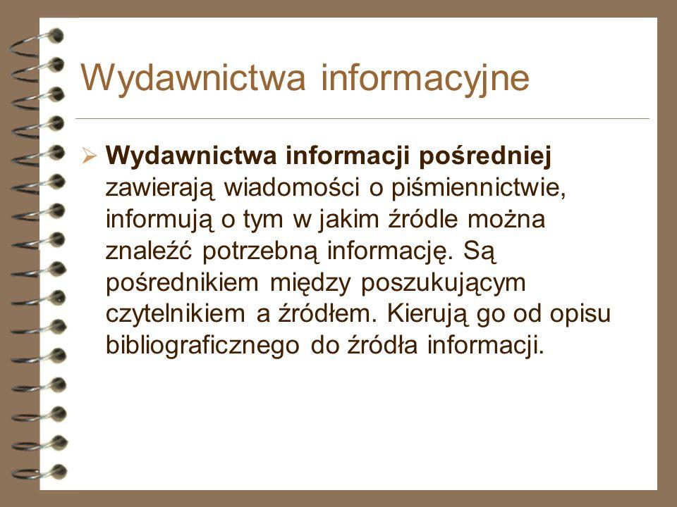 Wydawnictwa informacyjne