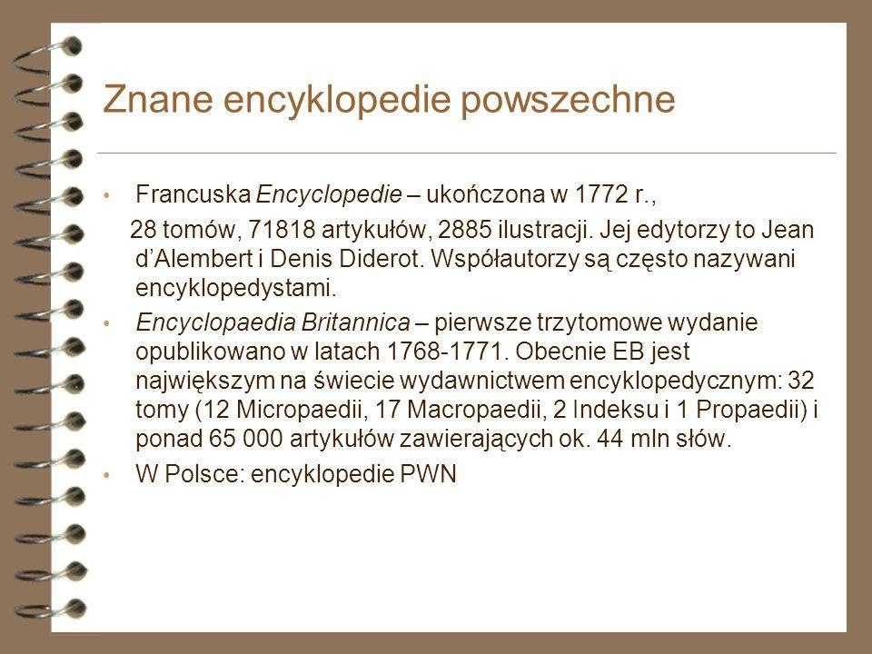 Znane encyklopedie powszechne