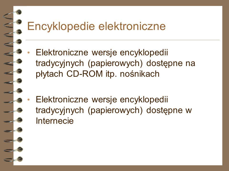Encyklopedie elektroniczne