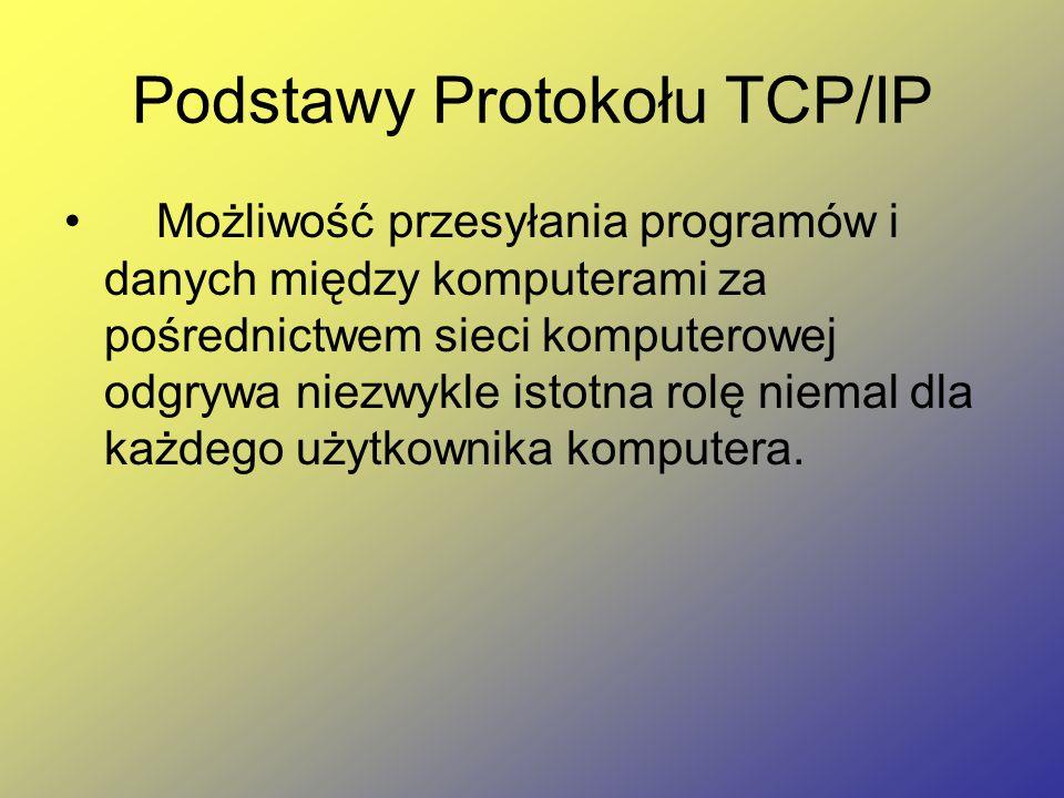 Podstawy Protokołu TCP/IP