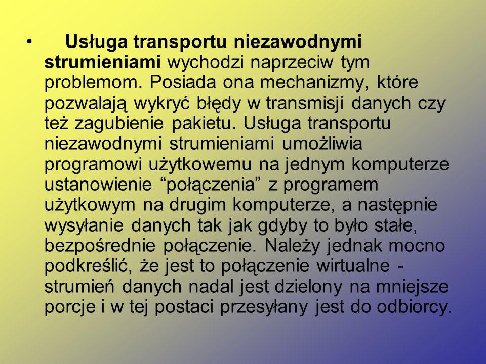 Usługa transportu niezawodnymi strumieniami wychodzi naprzeciw tym problemom.