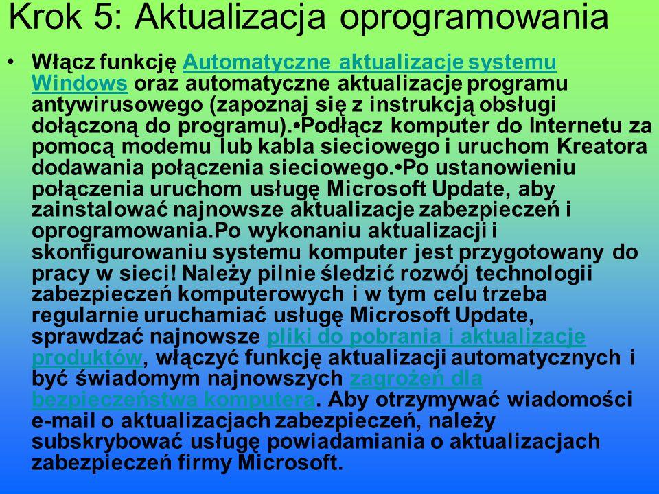 Krok 5: Aktualizacja oprogramowania
