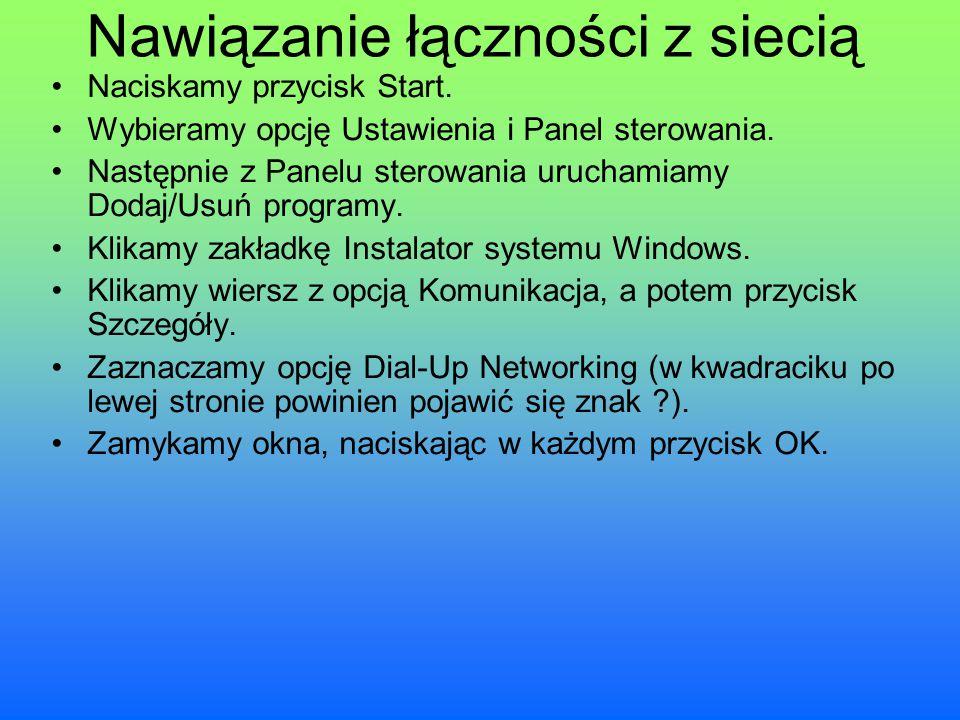 Nawiązanie łączności z siecią