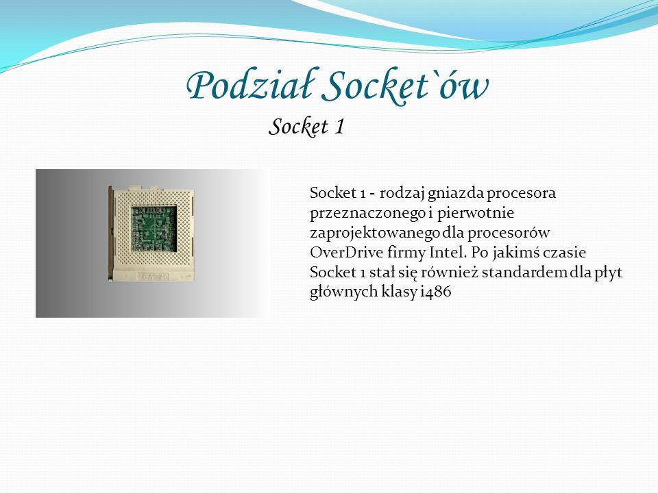Podział Socket`ów Socket 1