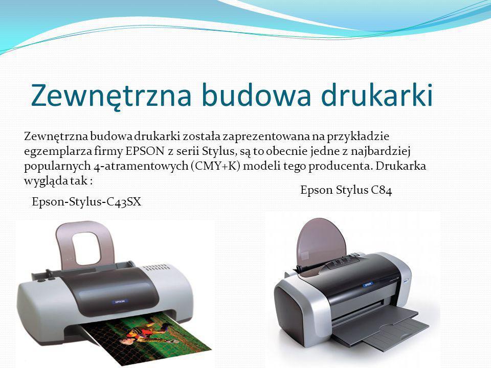 Zewnętrzna budowa drukarki