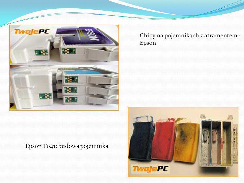 Chipy na pojemnikach z atramentem - Epson