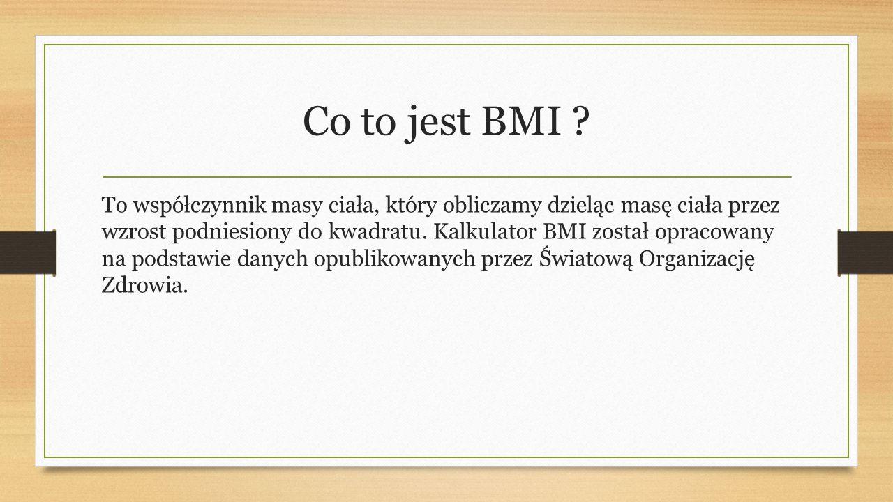 Co to jest BMI