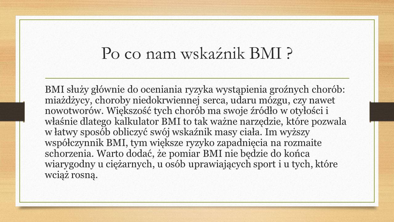 Po co nam wskaźnik BMI