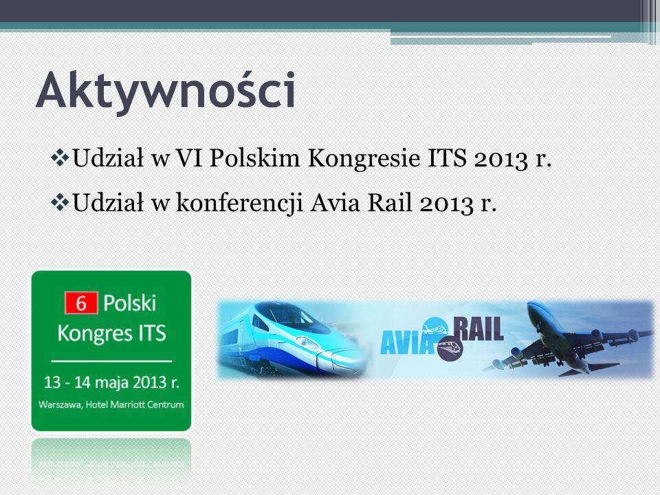 Aktywności Udział w VI Polskim Kongresie ITS 2013 r.