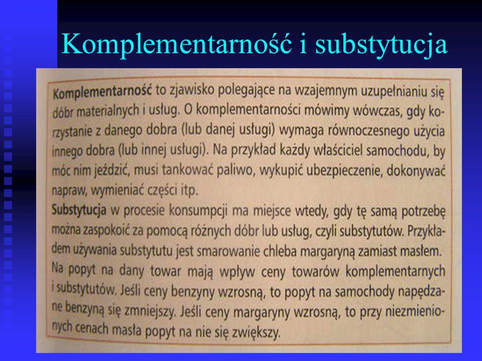 Komplementarność i substytucja
