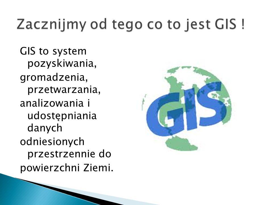 Zacznijmy od tego co to jest GIS !