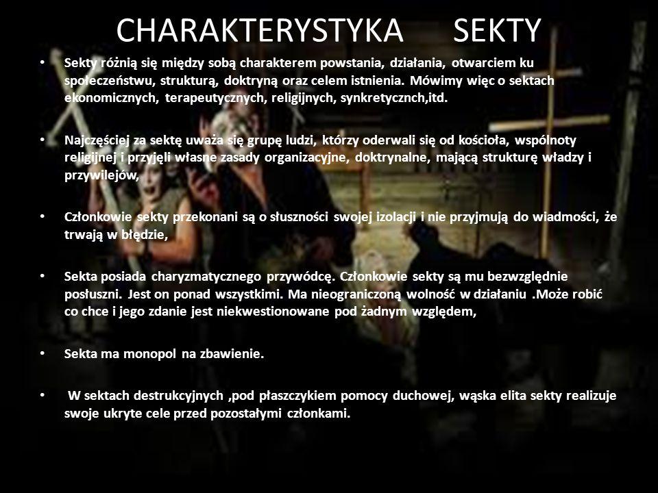 CHARAKTERYSTYKA SEKTY