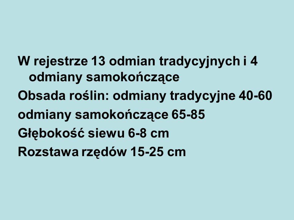 W rejestrze 13 odmian tradycyjnych i 4 odmiany samokończące