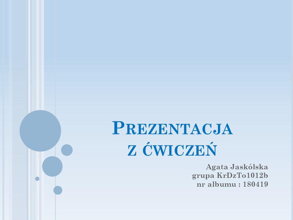 Agata Jaskólska grupa KrDzTo1012b nr albumu : 180419