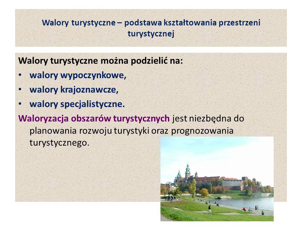 Walory turystyczne – podstawa kształtowania przestrzeni turystycznej