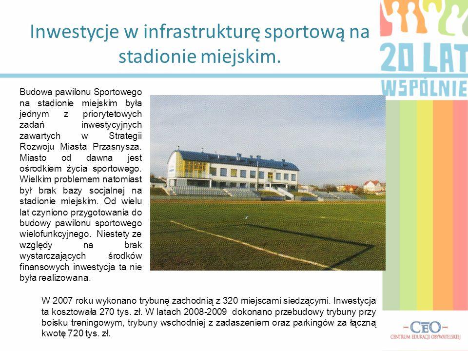 Inwestycje w infrastrukturę sportową na stadionie miejskim.