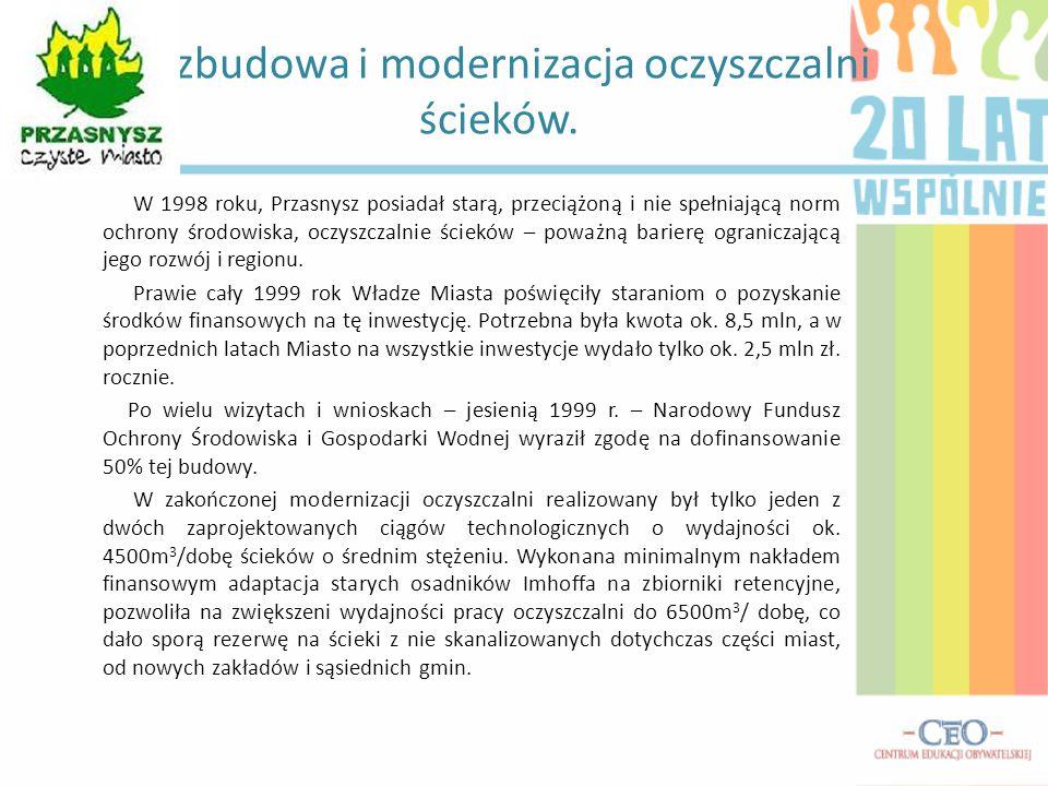 Rozbudowa i modernizacja oczyszczalni ścieków.
