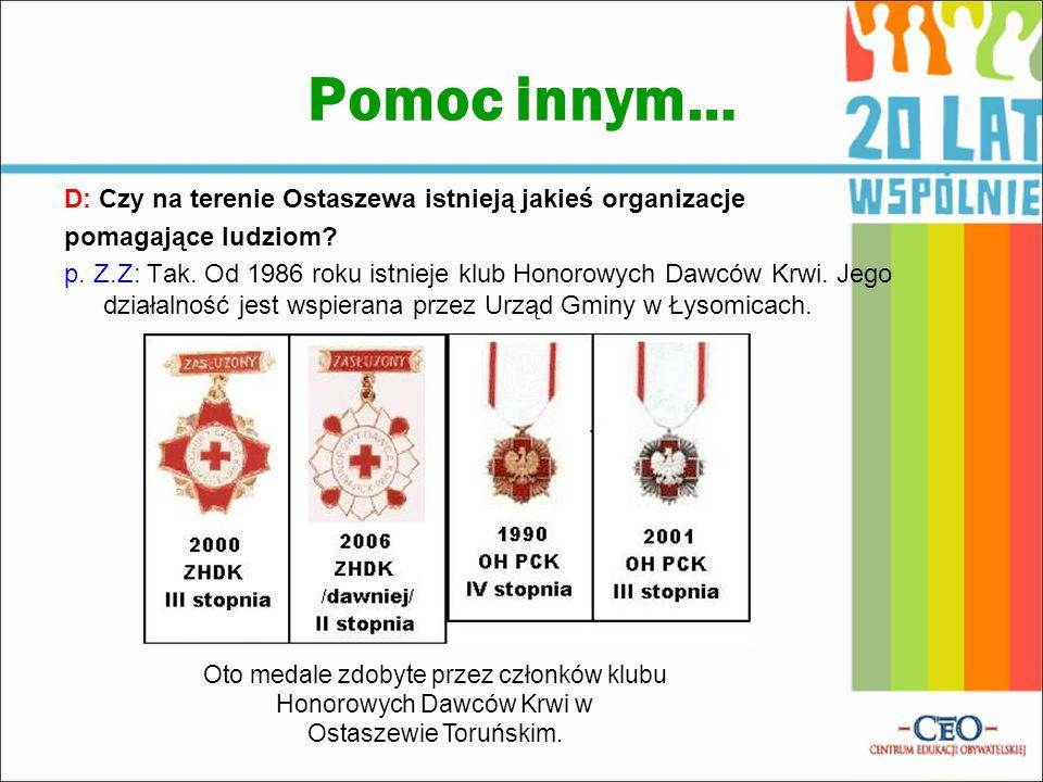 Oto medale zdobyte przez członków klubu Honorowych Dawców Krwi w