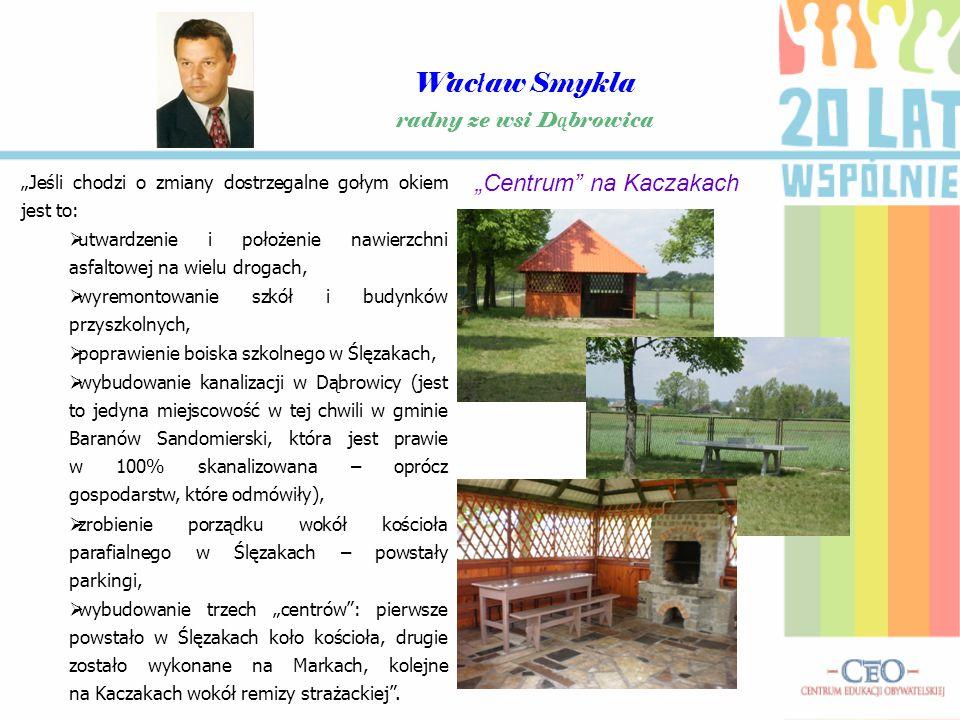 """Wacław Smykla """"Centrum na Kaczakach radny ze wsi Dąbrowica"""
