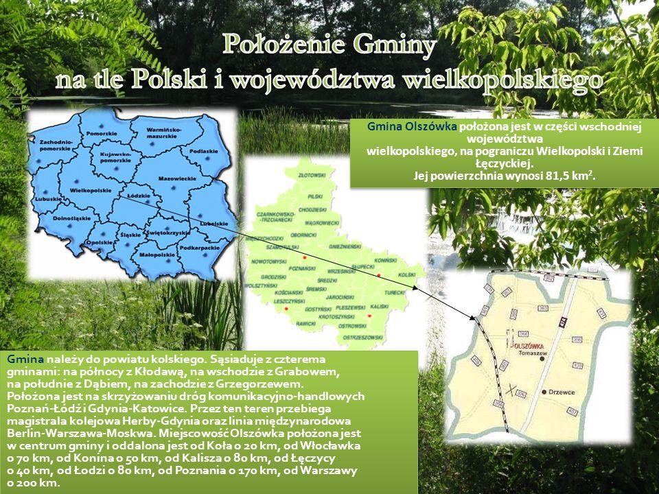 Położenie Gminy na tle Polski i województwa wielkopolskiego