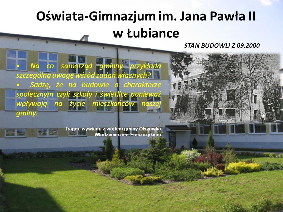 Oświata-Gimnazjum im. Jana Pawła II w Łubiance