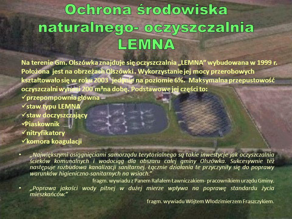 Ochrona środowiska naturalnego- oczyszczalnia LEMNA