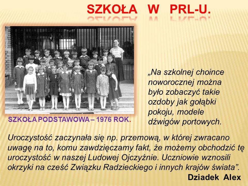 SZKOŁA PODSTAWOWA – 1976 ROK.
