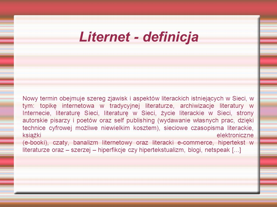 Liternet - definicja