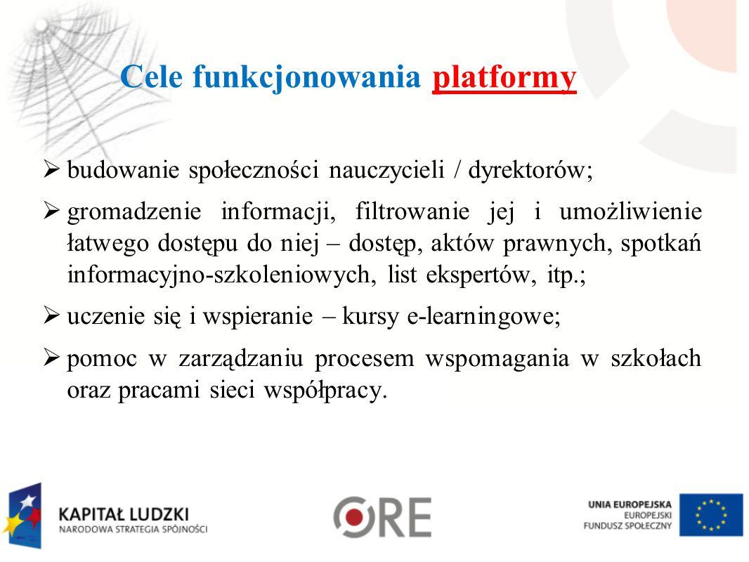 Cele funkcjonowania platformy