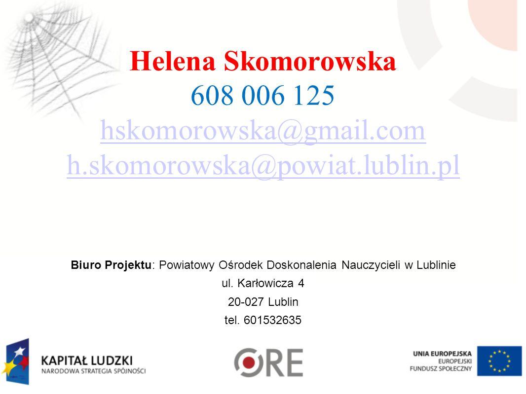Biuro Projektu: Powiatowy Ośrodek Doskonalenia Nauczycieli w Lublinie