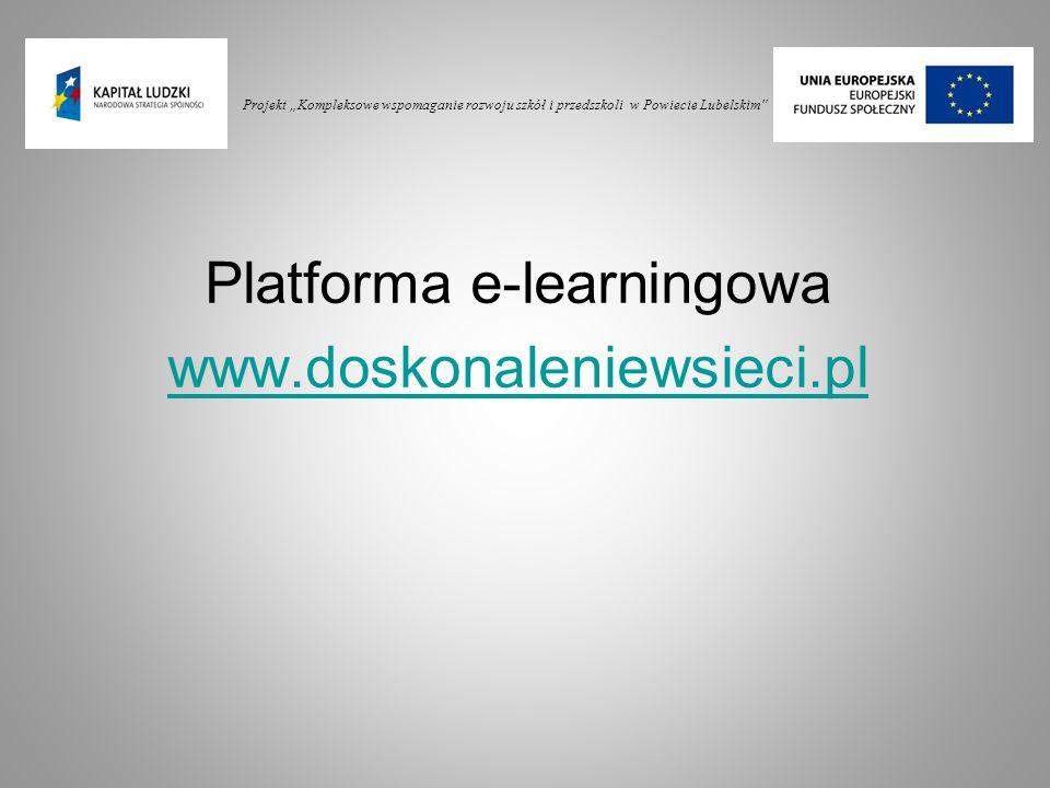 Platforma e-learningowa www.doskonaleniewsieci.pl