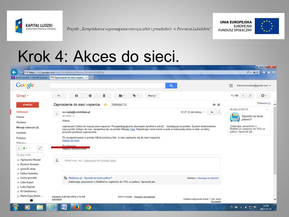 """Projekt """"Kompleksowe wspomaganie rozwoju szkół i przedszkoli w Powiecie Lubelskim"""
