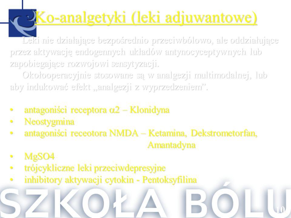 Ko-analgetyki (leki adjuwantowe)