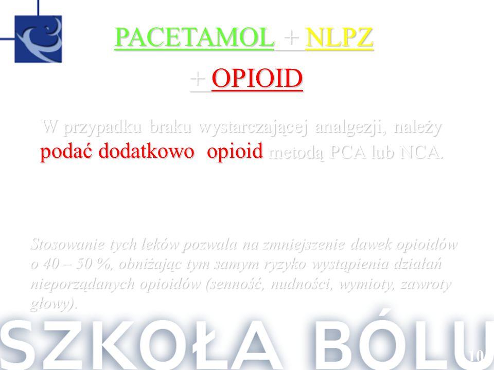 PACETAMOL + NLPZ + OPIOID