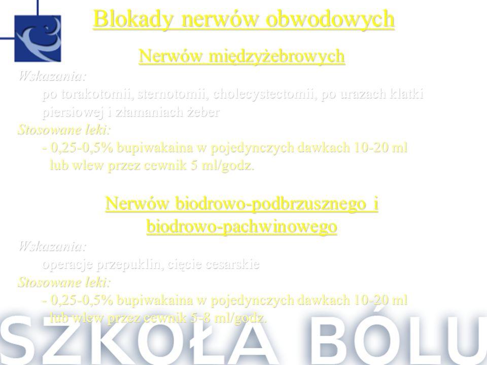 Blokady nerwów obwodowych