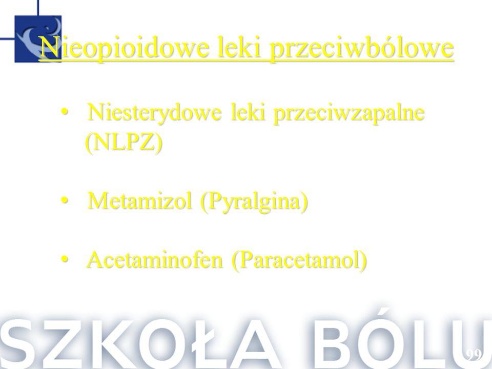 Nieopioidowe leki przeciwbólowe