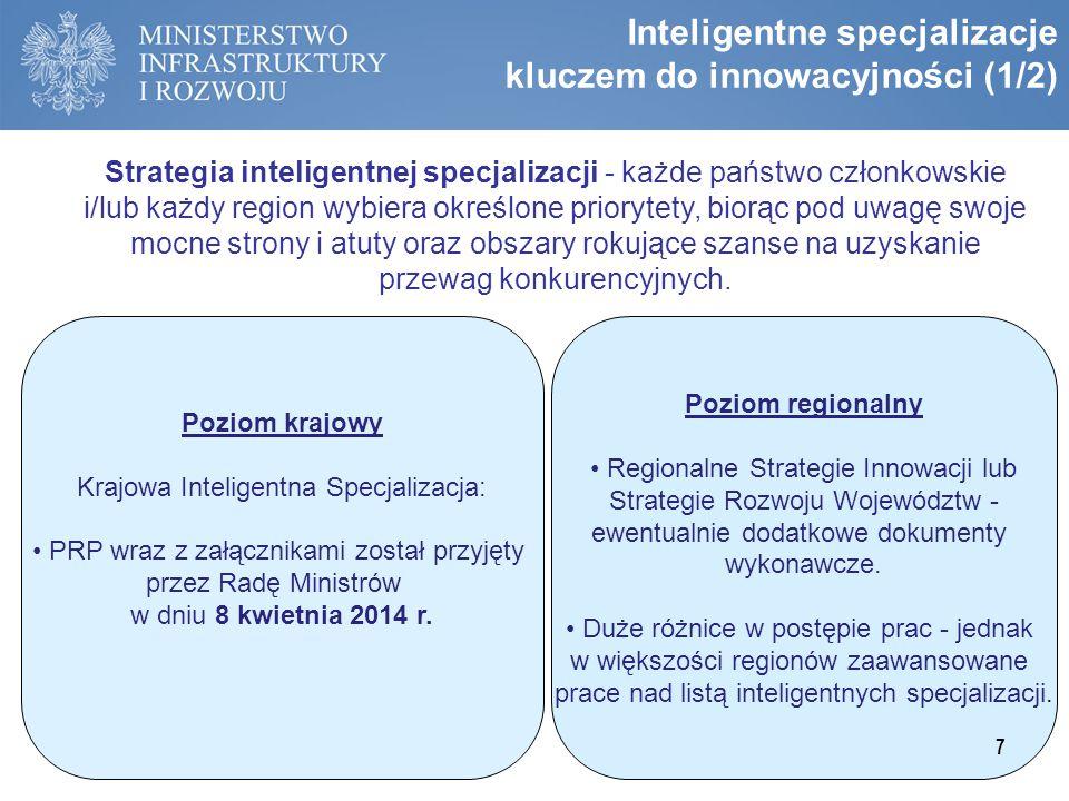Inteligentne specjalizacje kluczem do innowacyjności (1/2)
