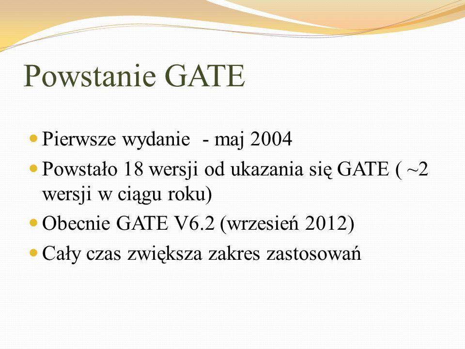 Powstanie GATE Pierwsze wydanie - maj 2004