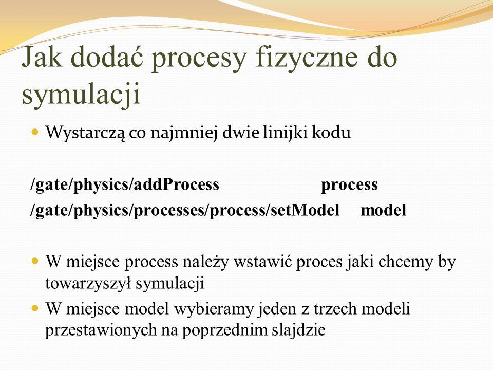 Jak dodać procesy fizyczne do symulacji