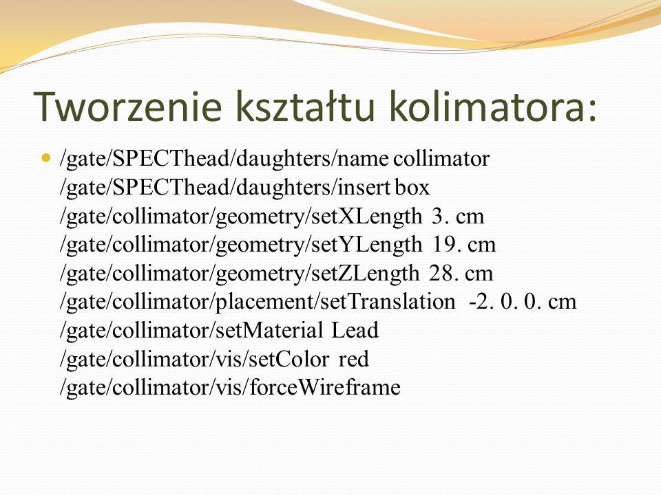 Tworzenie kształtu kolimatora:
